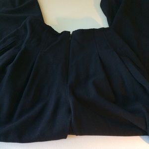 ESCADA Pleated Front Black New Wool Pants Size 8.